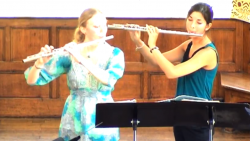 Telemann Sonata no 4 for two flutes, with Samantha Pearce